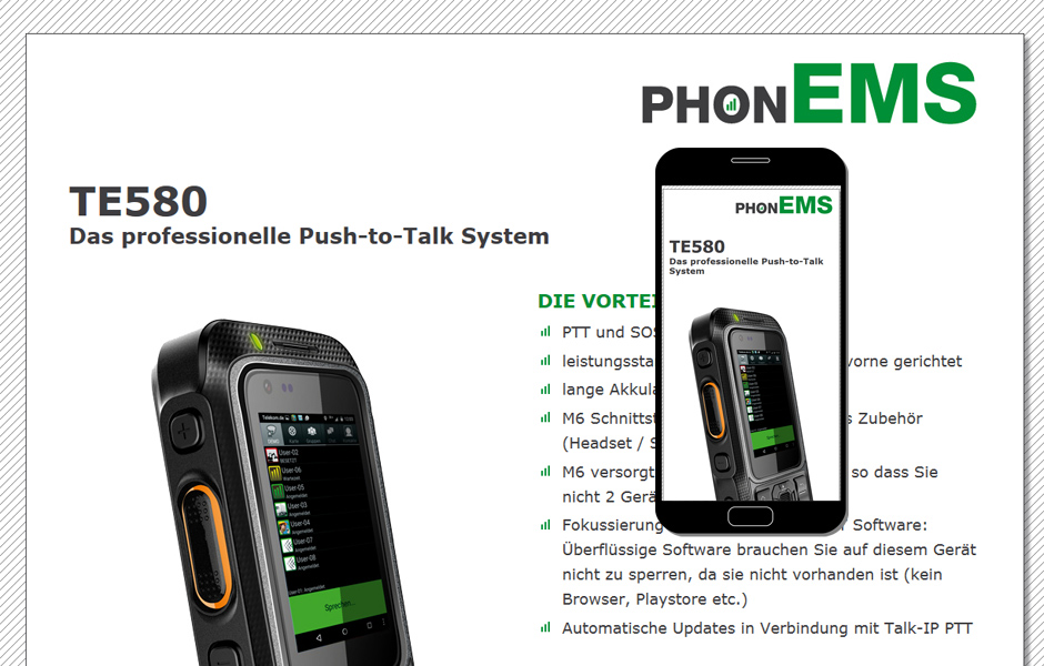 phonEMS Push-to-talk Hardware